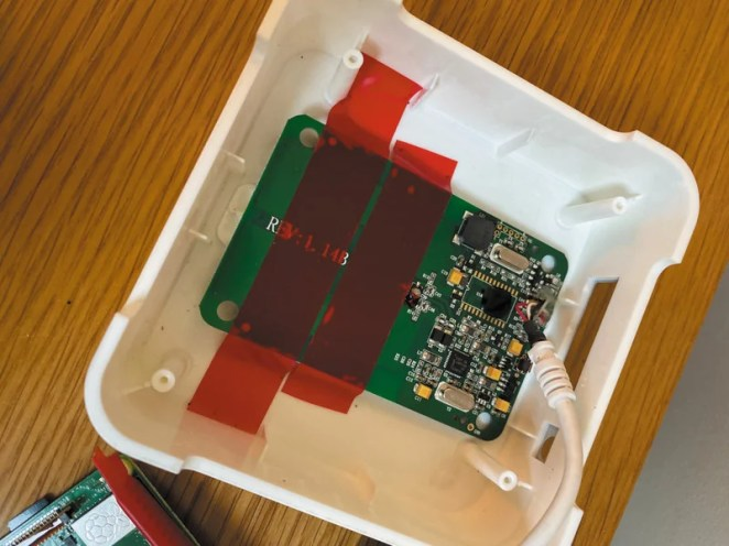 Raspberry Pi is secreted in the box along with an NFC reader