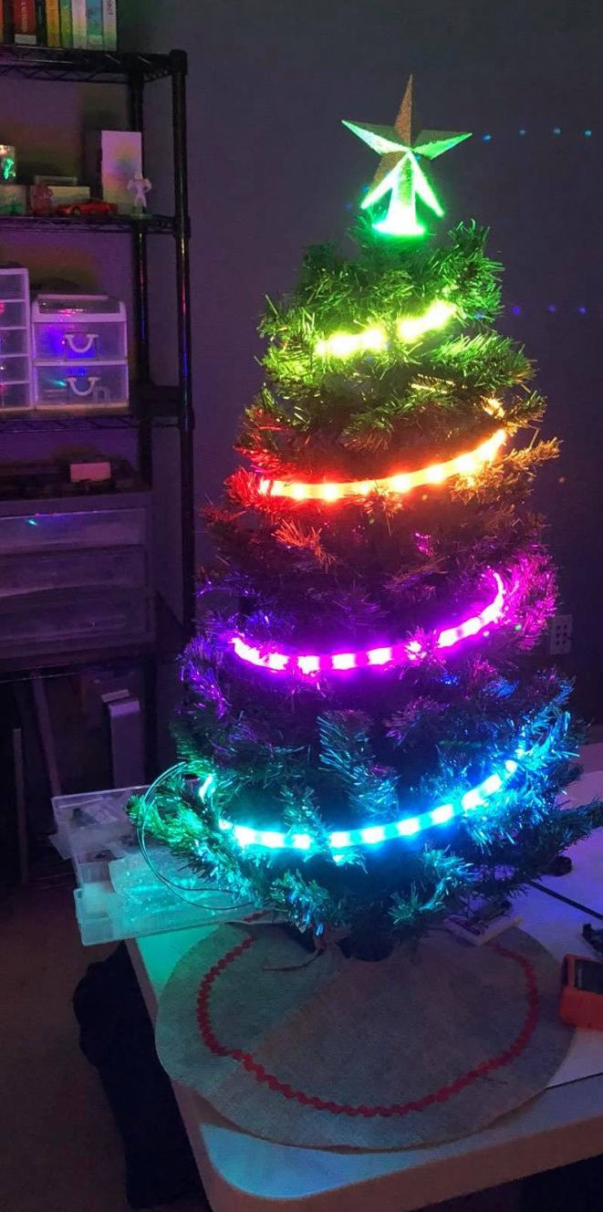 You can use a bigger tree if you have enough NeoPixels