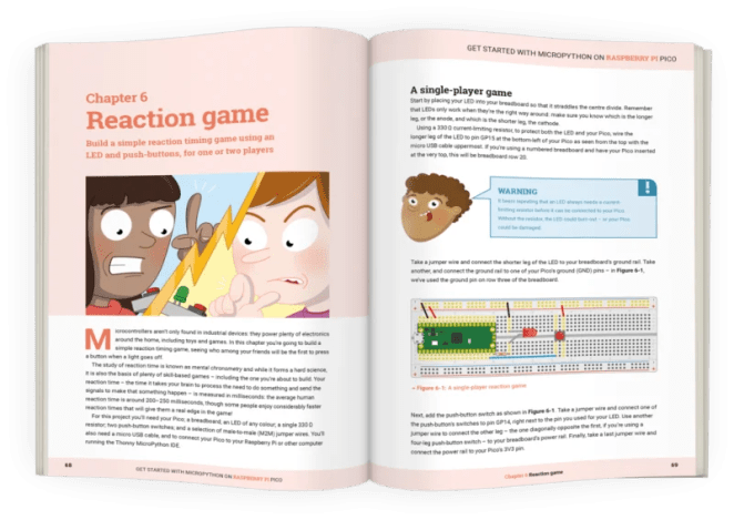 Inside the pages of the Raspberry Pi Pico book