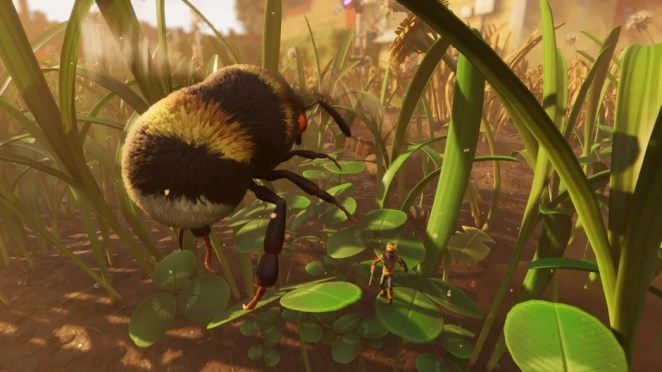 Grounded bee hero asset