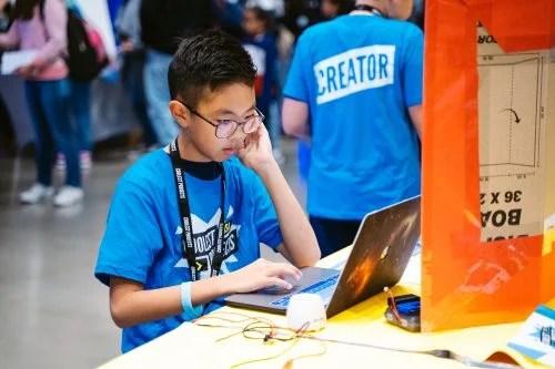 A Coolest Projects participant