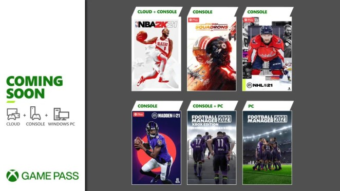 Xbox Game Pass - March, Wave 1 - 2021