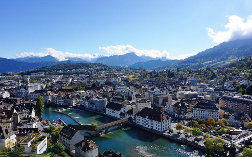 A cidade charmosa de Lucerna, na Suíça