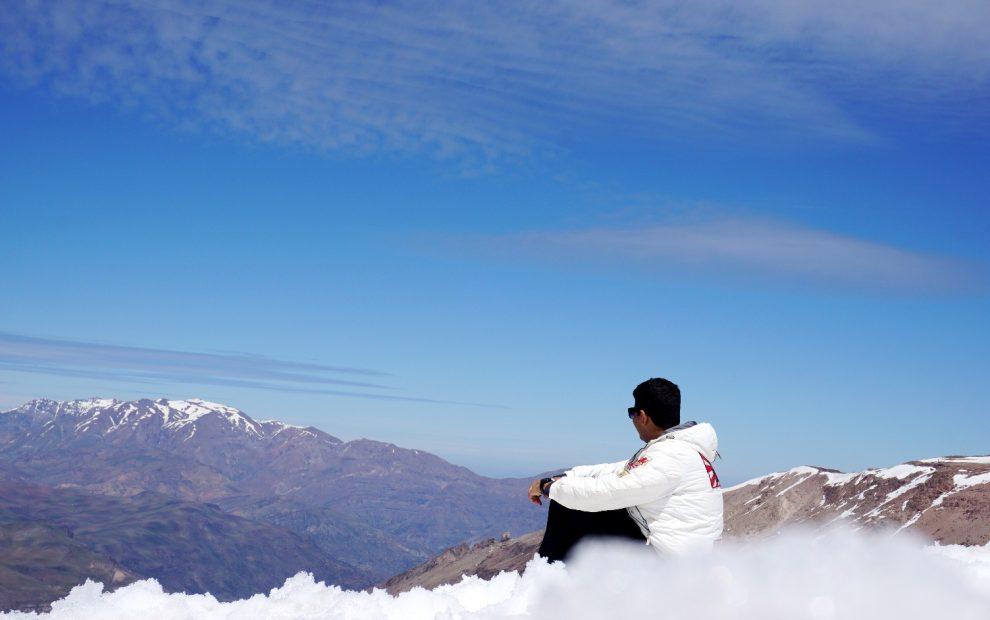 E a primeira vez que vi neve, no Valle Nevado