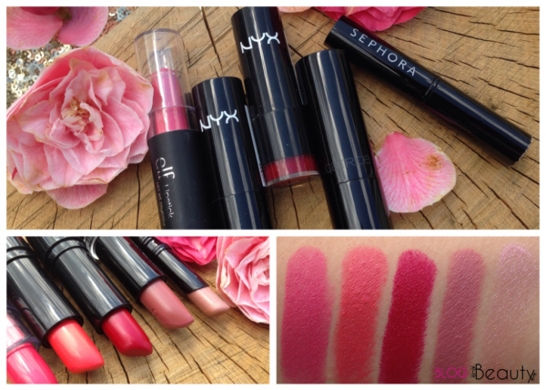 My 5 Favourite lipsticks collage