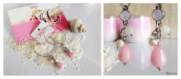 My Jewellery CRYSTAL HOOPS LIGHT PINK XL
