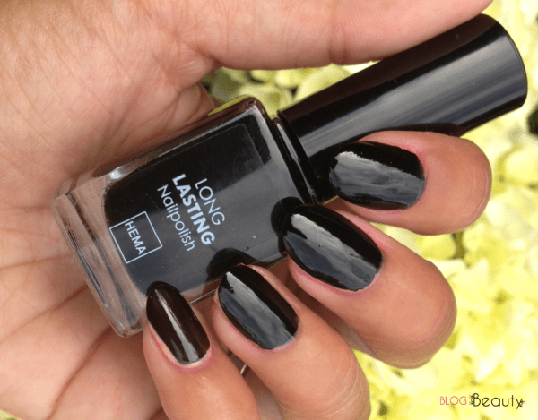 Hema Long Lasting Nailpolish Exotic Nail Swatch Black