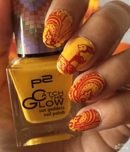 Fall Stample Nail Art 6