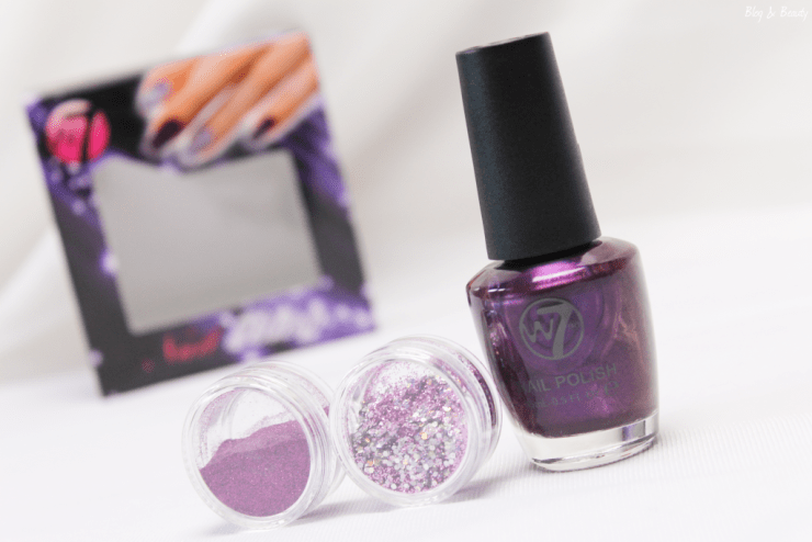 W7 Nail Bling Purple Point 1