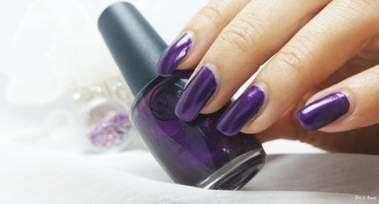 W7 Nail Bling Purple Point Swatches 5
