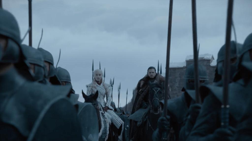 Daenerys y Jon llegan a Invernalia. Fuente: HBO