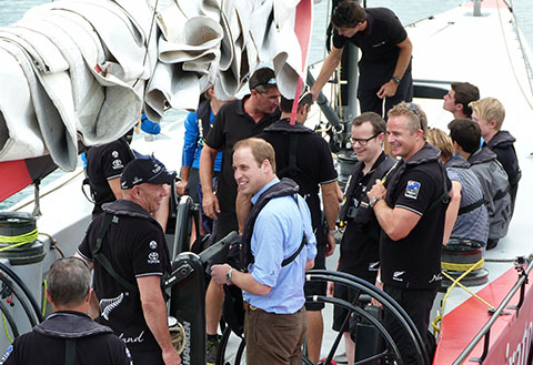 Royal Visit NZ America's Cup Auckland