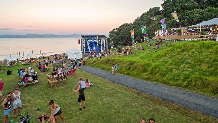 Splore festival beach