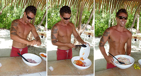 Tahiti poisson cru