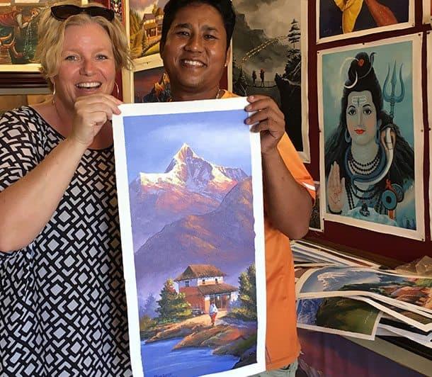 Painting of Pokhara Nepal