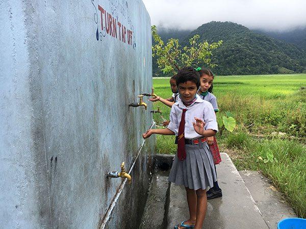 Water cistern by volunteers