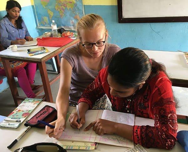 Teaching math in Nepal
