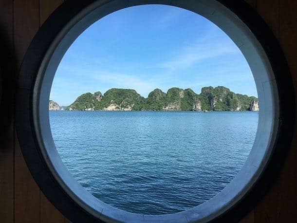 HaLong Bay through the port hole