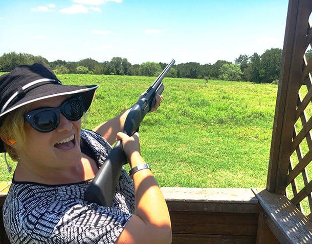 Clay bird (skeet) shooting at Wildcatter Ranch, Texas