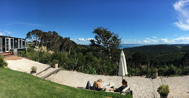 Batch Winery views Waiheke