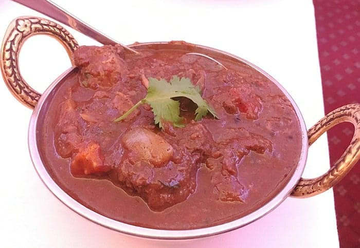 Bowl of goat curry