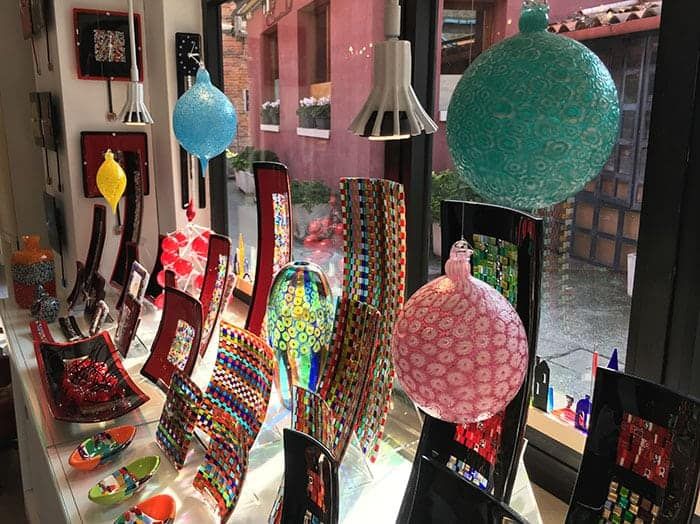 Murano glass baubles and dishes