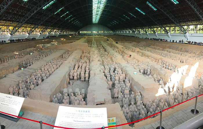Pit 3 filled with terracotta warriors
