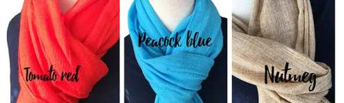 Cashmere scarves from Nepal