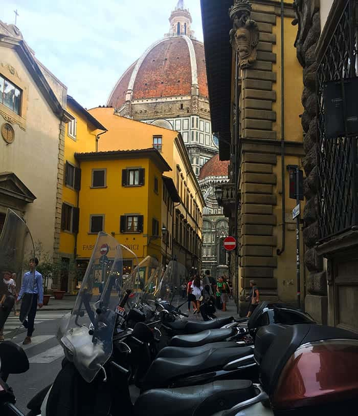 Florence street and duomo