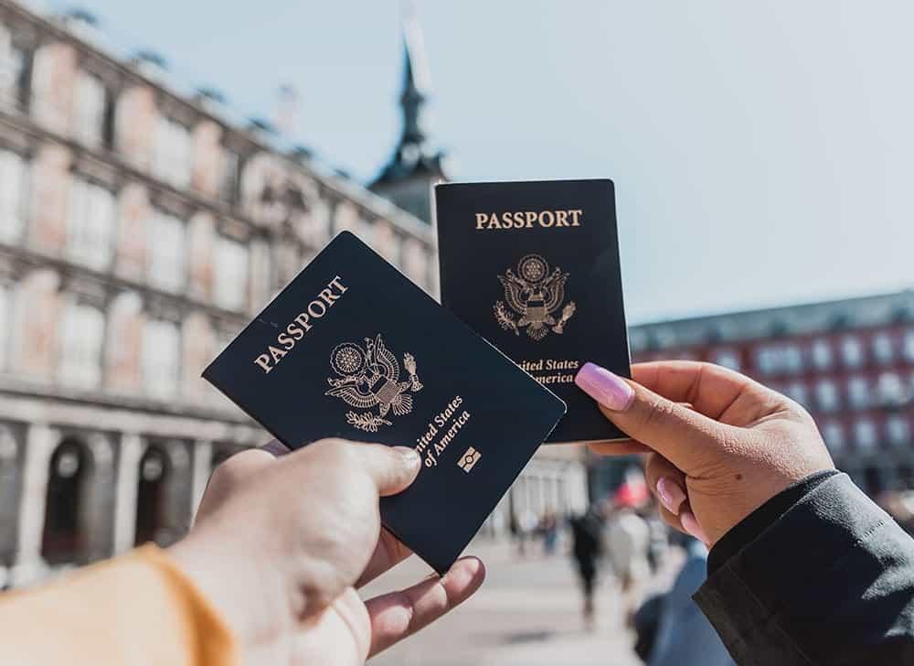 Passports on vacation