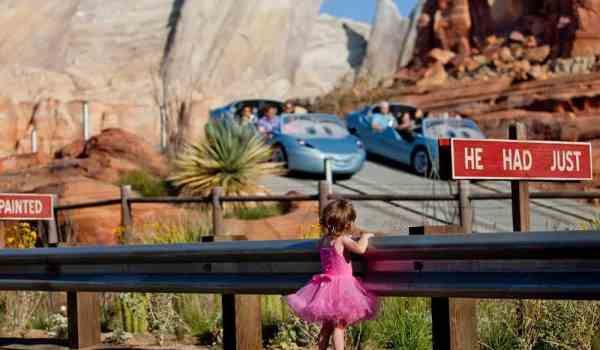 Girl watching Cars Land