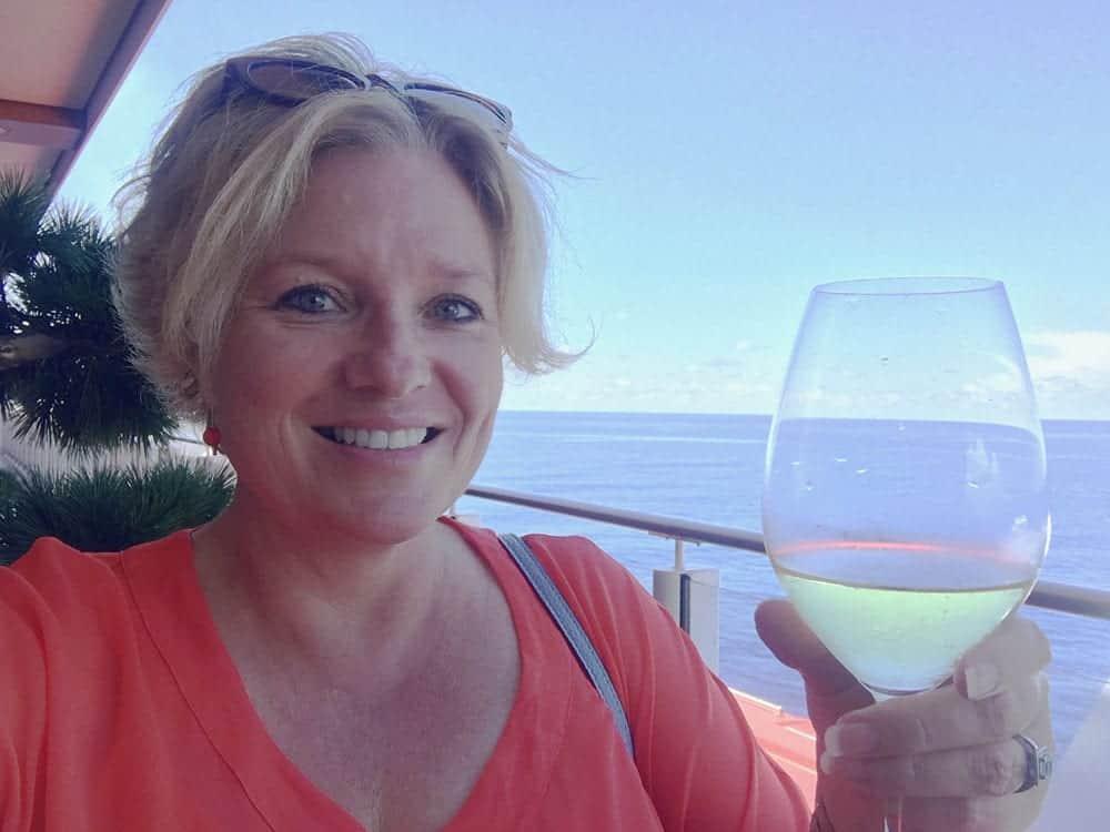 Megan on board cruise ship
