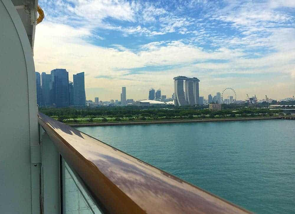 Cruising out of Singapore
