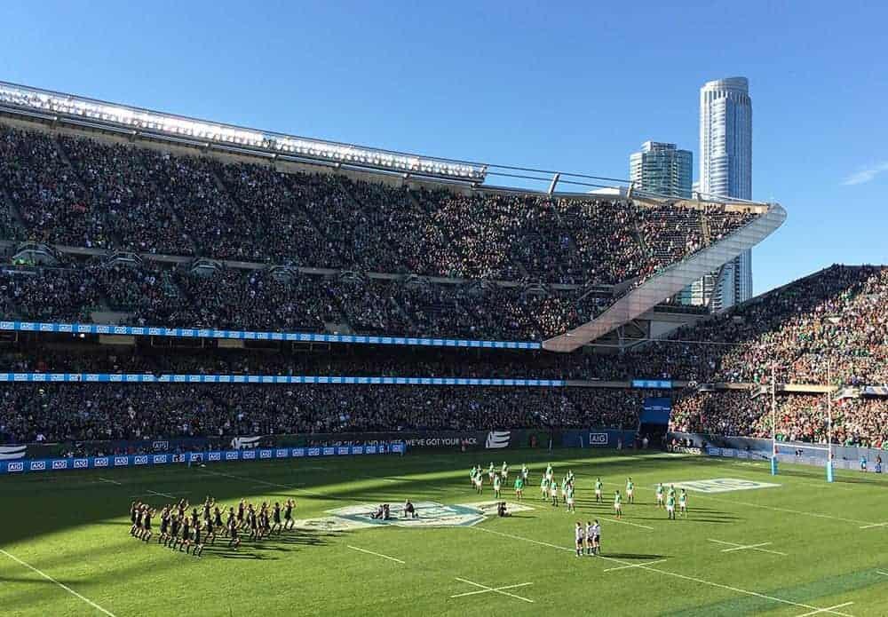 All Blacks haka performed against Ireland in Chicago