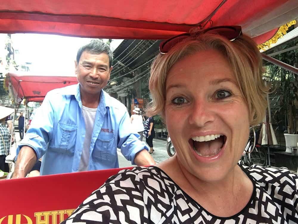 Cyclo tour in Vietnam