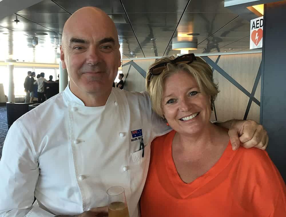 Megan Singleton and chef Mark Best