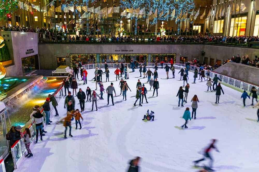 Ice skating at Rockefeller Ice Rink