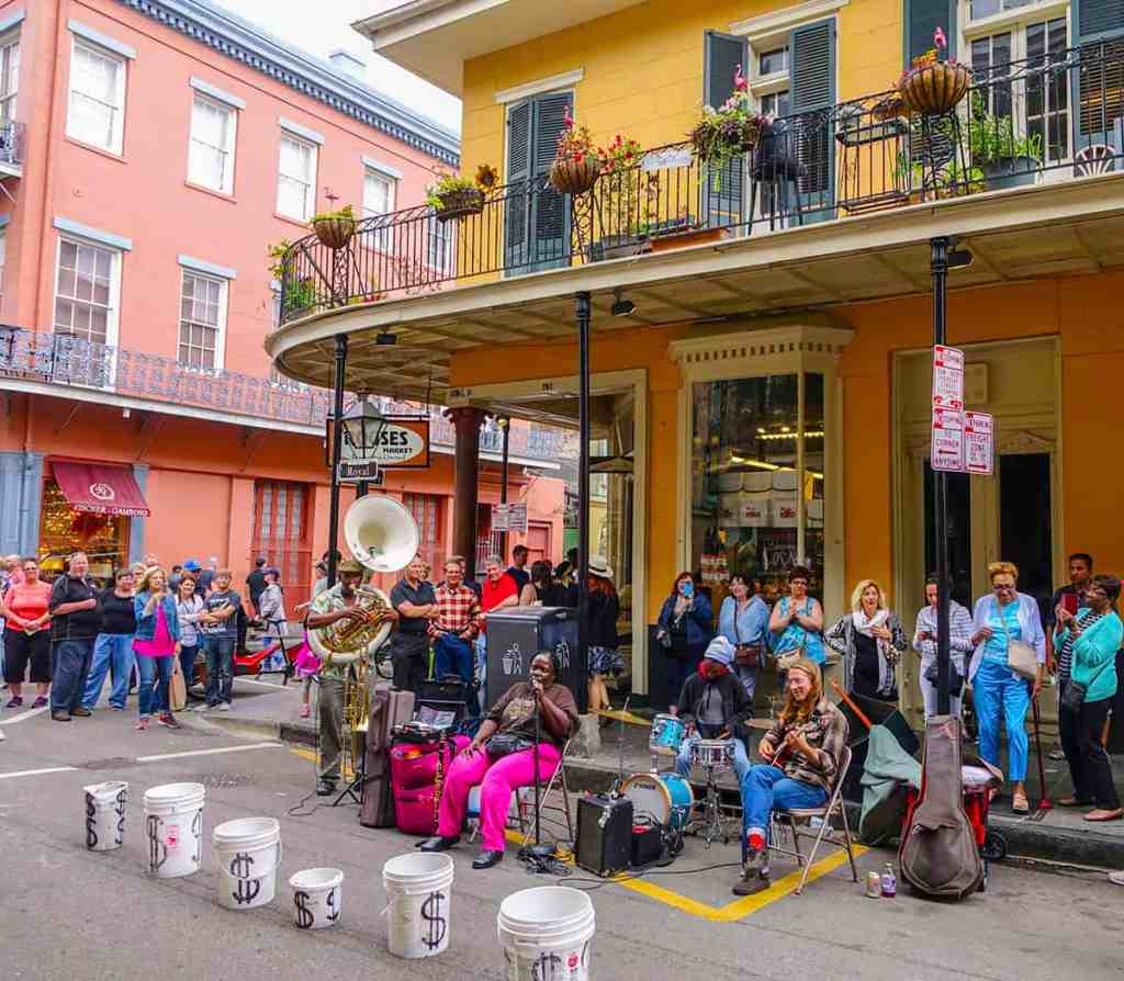 Street musicians in New Orleans