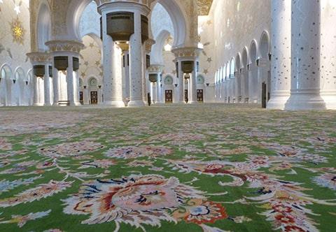 Abu Dhabi mosque carpet