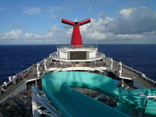 Carnival Cruise pool deck