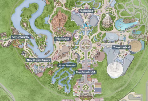 Disneyland CA map