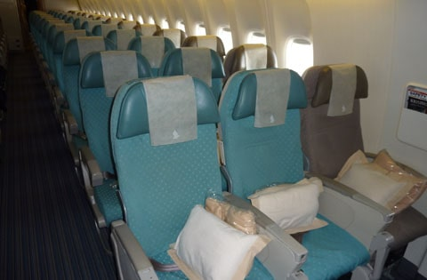 Singapore Airlines exit row