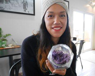 Jade Temepara and her dried seaweed