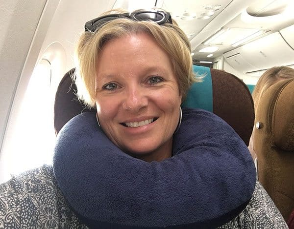 Neck pillow travel hack