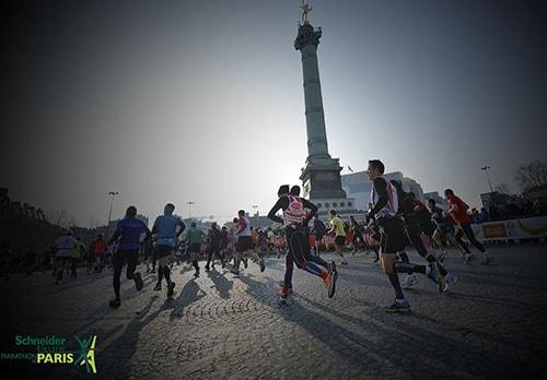 Run past the icons in Paris