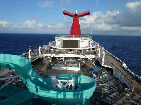 Carnival Liberty pool slide
