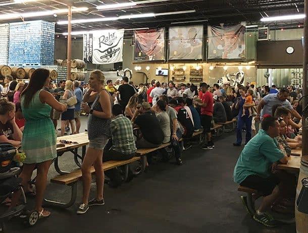 Crowd at Rahr Brewery