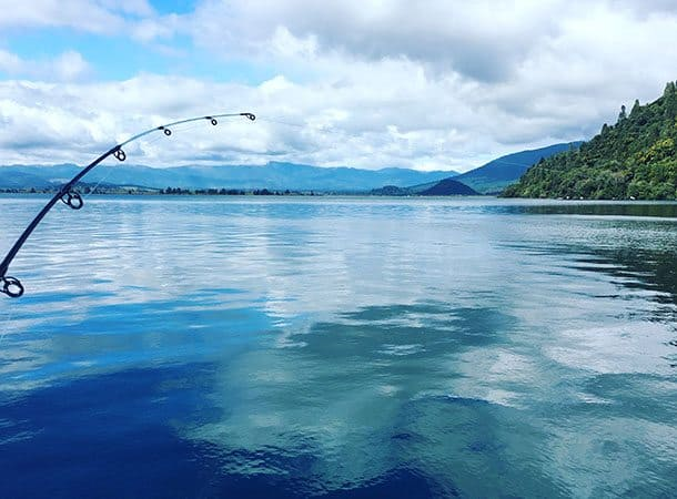 fishing on lake taupo