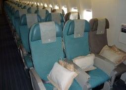 Singapore Airlines economy seats