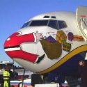 Santa on a plane
